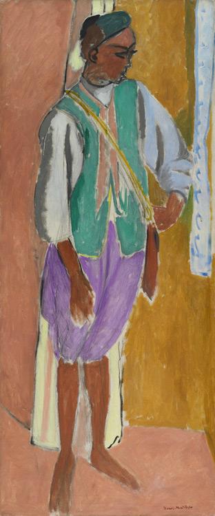 Henri Matisse - 135 Le jeune Marocain, Amido - Марокканец Амидо - 1912 - 146,5x61, 3 - Acheté à l'atelier, 19 août 1912, 6000f - cat. 1913, 126 - inv. Ermitage 7699
