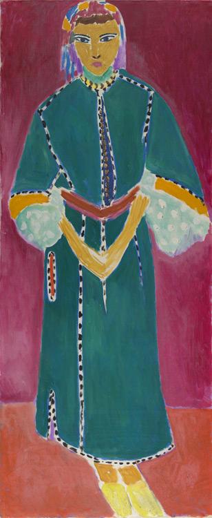 Henri Matisse - 136 Zorah debout - Стоящая Зора (Марокканка) -1912 - 146, 5x61, 7 - Acheté à l'atelier, janvier 13 - cat. 1913, 127 - inv. Ermitage 10044
