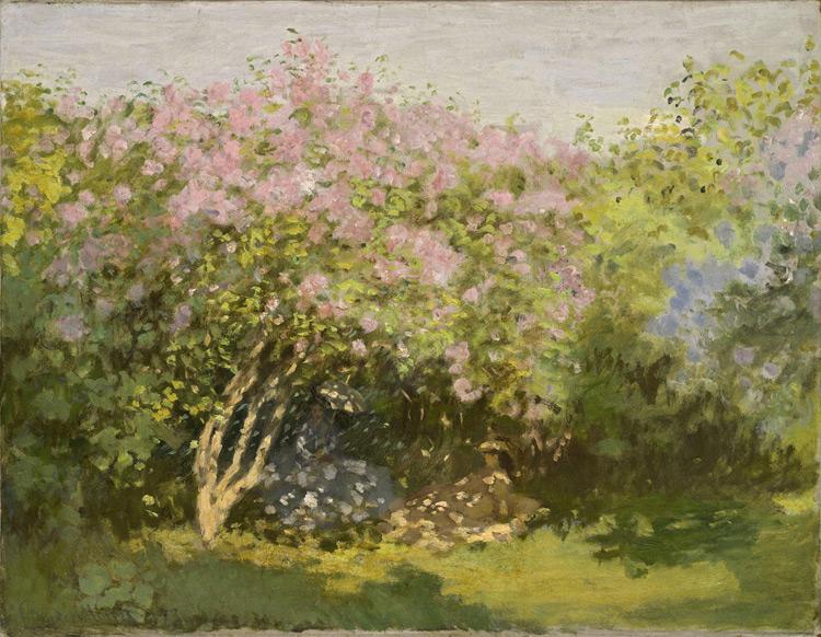 Claude Monet - 148 Lilas au soleil - Сирень на солнце - 1872/73 - 50x65 - Acheté chez Durand-Ruel le 25 avril 1899 par l'intermédiaire d'Ivan, 8000f - cat. 1913, 137 - inv. Pouchkine J 3311