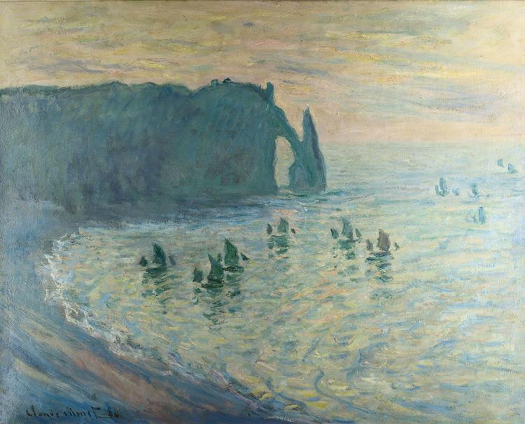 Claude Monet - 149 Les rochers d'Etretat - Скалы в Этрета - 1886 - 66x81 - Acheté par Piotr chez Durand-Ruel le 24 juin 1898 8000f - Acheté par Sergueï à Piotr en 1912 - cat. 1913, 134 - inv. Pouchkine J 3308