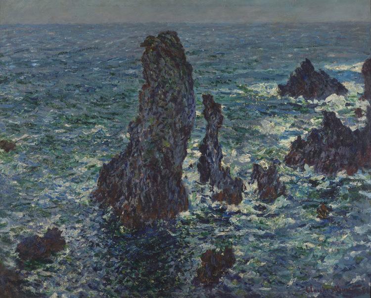 Claude Monet - 150 Les rochers de Belle Ile - Скалы в Бель-Иль - 1886 - 65x81 - Acheté chez Durand-Ruel, 10 novembre 1898 - cat. 1913, 136 - inv. Pouchkine J 3310