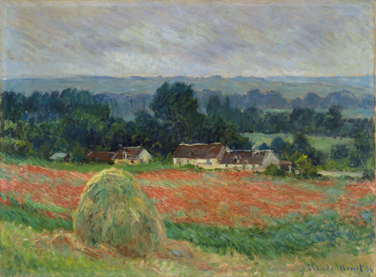 Claude Monet - 151 Meule de foin à Giverny - Стог сена около Живерни - 1886 - 60,5x81,5 - Acquisition Durand-Ruel ? 1904 - cat.1913, 141 - inv. Ermitage 6563