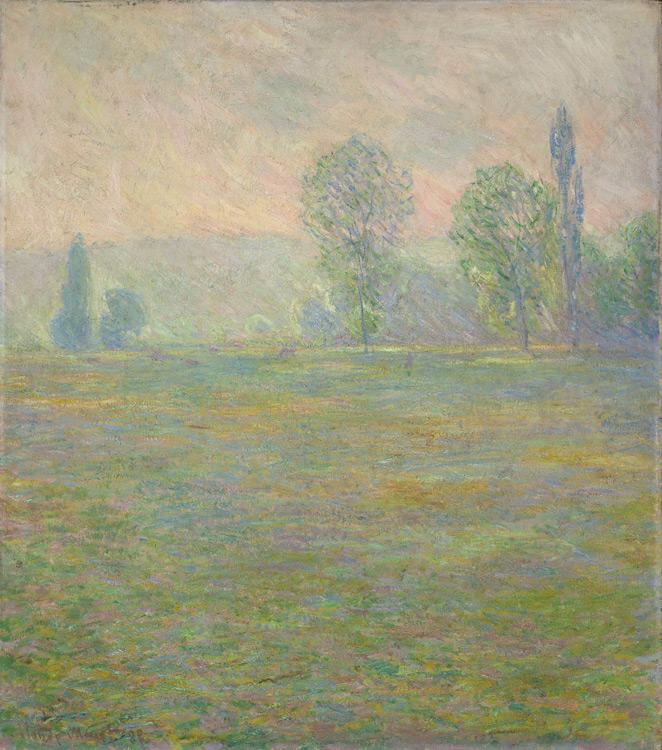 Claude Monet - 152 Prairie à Giverny - Луга в Живерни - 1888 - 92,5x81,5 - Acheté chez Durand-Ruel, 3 mai 1899, 9000 f - cat.1913, 143 - inv. Ermitage 7721