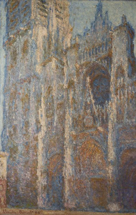 Claude Monet - 153 Cathédrale de Rouen à midi - Руанский собор в полдень (портал и башня Д'Альбана) - 1894 - 101x65 - Acheté chez Durand-Ruel, 22 octobre 1902, 22 000fr- cat.1913, 138 - inv. Pouchkine J 3313