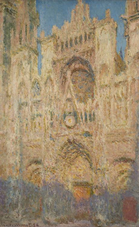 Claude Monet - 154 Cathédrale de Rouen le soir - Руанский собор вечером - 1894 - 100x65 - Acheté à l'atelier de Giverny, novembre 1901, 18 000f - cat.1913, 142 - inv. Pouchkine J 3312