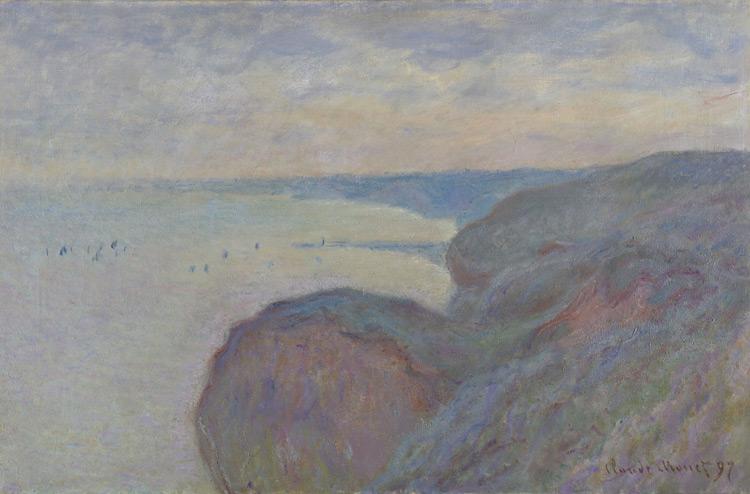 Claude Monet - 155 Falaises près de Dieppe - На крутых берегах близ Дьеппа - 1897 - 65x100,5 - Acheté chez Durand-Ruel, 12 novembre 1903, 11 000 f - cat.1913, 140 - inv. Ermitage 8992