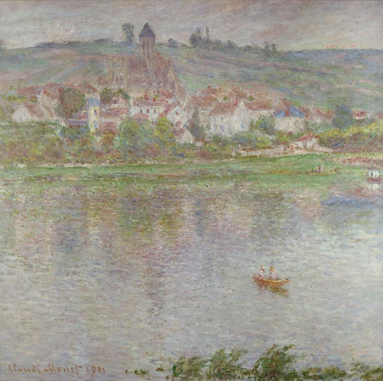 Claude Monet - 157 Vetheuil - Городок Ветей - 1901 - 90x92 - Acquis chez Durand-Ruel, 13 mai 1902, 12 000 f - cat.1913, 144 - inv. pouchkine J 3314