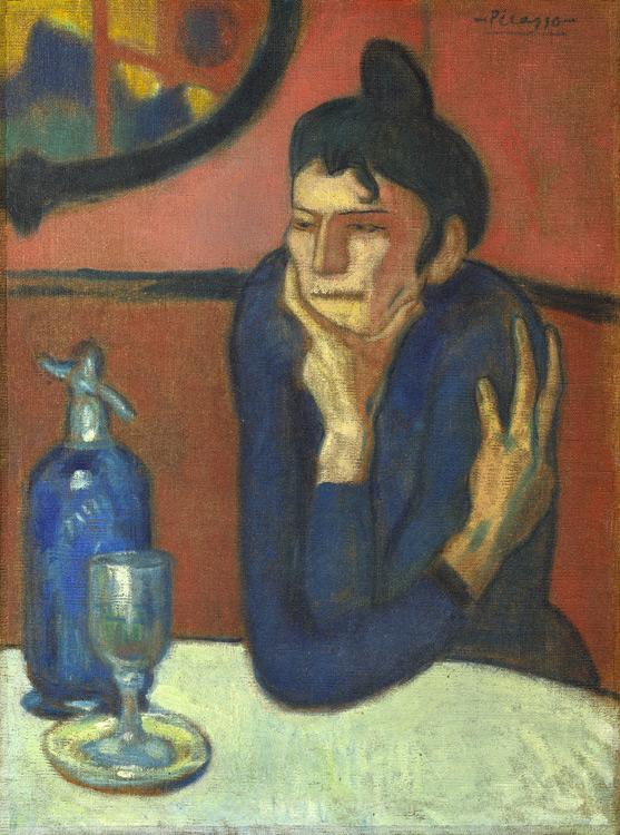 Pablo Picasso - 163 La buveuse d'absinthe (L'apéritif) - Любительница абсента - 1901 - 73x54 - Acquis chez Kahnweiler, 1911 SC? - cat.1913, 154 - inv. Ermitage 9045