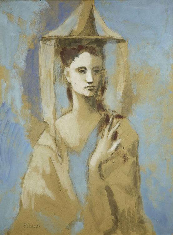 Pablo Picasso - 170 Femme de l'île de Majorque - Испанка с острова Майорки - Gouache et aquarelle sur carton - 1905 - 67x51 - Provenance? Kahnweiler 1913? - cat.1913, 153 - inv. Pouchkine R 3316
