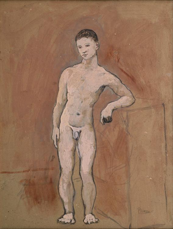 Pablo Picasso - 171 Garçon nu - Обнаженный юноша - Détrempe sur carton - 1906 - 67,5x52 - Kahnweiler 1914 - cat.1913, 250 ajout - inv. Ermitage 40777