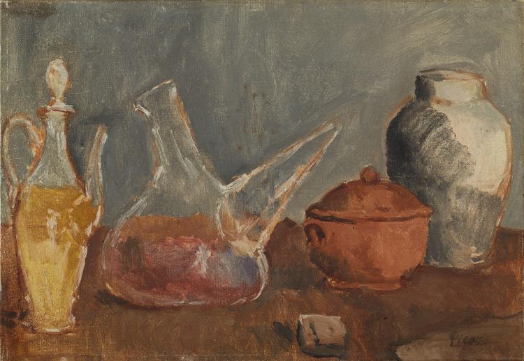 Pablo Picasso - 173 Nature morte au porron - Натюрморт. Химическая посуда - 1906 - 38,4x56 - Brummer - Kahnweiler, 12 juillet 1912 - cat.1913, 149 - inv. Ermitage 8895