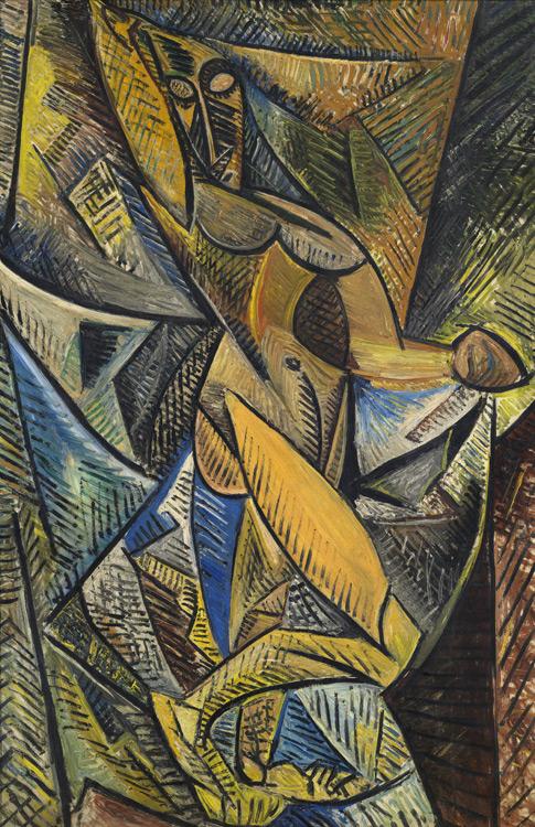 Pablo Picasso - 175 La danse aux voiles (nu à la draperie) - Танец с покрывалами - Été 1907 - 152x101 – Acheté chez Vollard 1913 SC ? - cat.1913, 161 - inv. Ermitage 9089