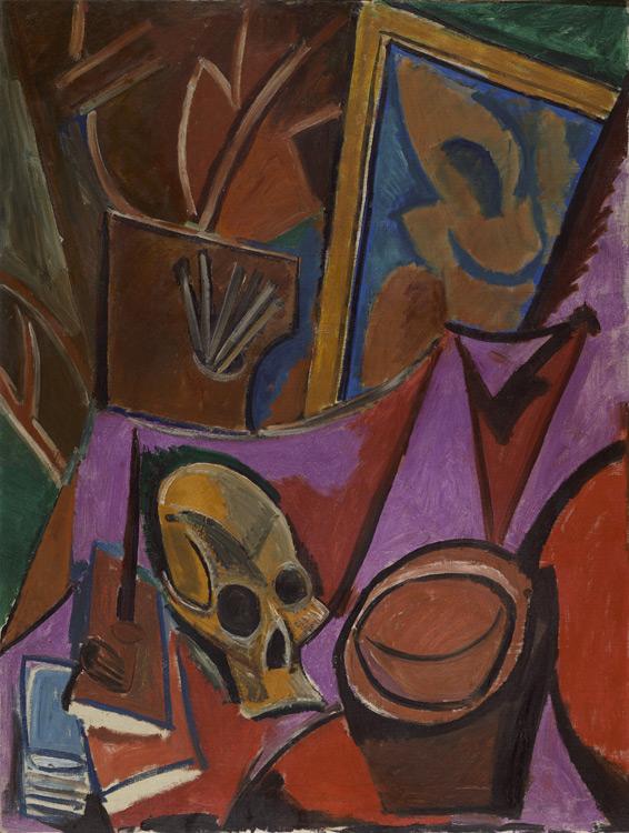 Pablo Picasso - 177 Composition à la tête de mort - Натюрморт. Композиция с черепом - Automne 1908 - 115x88 - Acheté chez Kahnweiler, 12 juillet 1912 (10 000f) - cat.1913, 177 - inv. Ermitage 9162