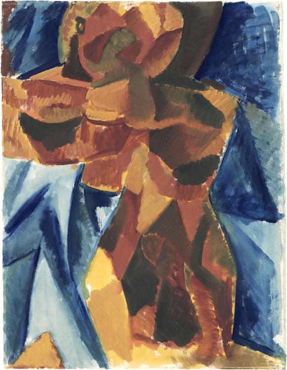 Pablo Picasso - 180 Esquisse de L'amitié - Этюд к картине «Дружба» - Aquarelle et gouache sur papier - Hiver 1907 - 61x47 - Acheté chez Kahnweiler 1912? - cat.1913, 174 - inv. Pouchkine R 10263