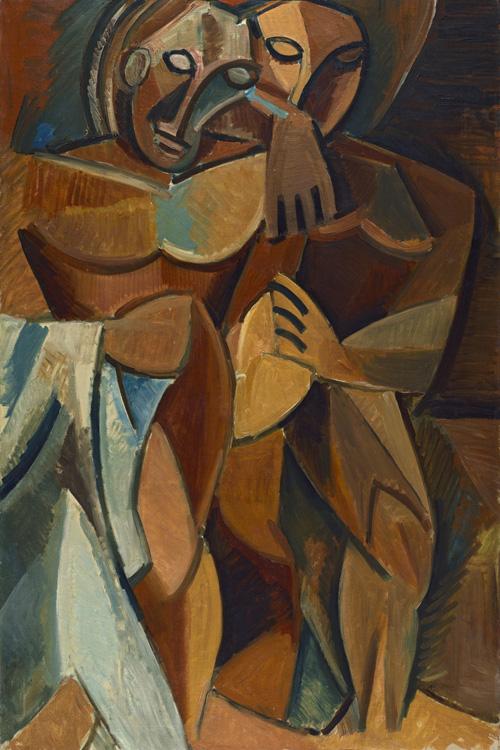 Pablo Picasso - 182 L'amitié - Дружба - début 1908 - 152x101,8 - Acheté à Kahnweiler, automne1912? - cat.1913, 168 - inv. Ermitage 6576