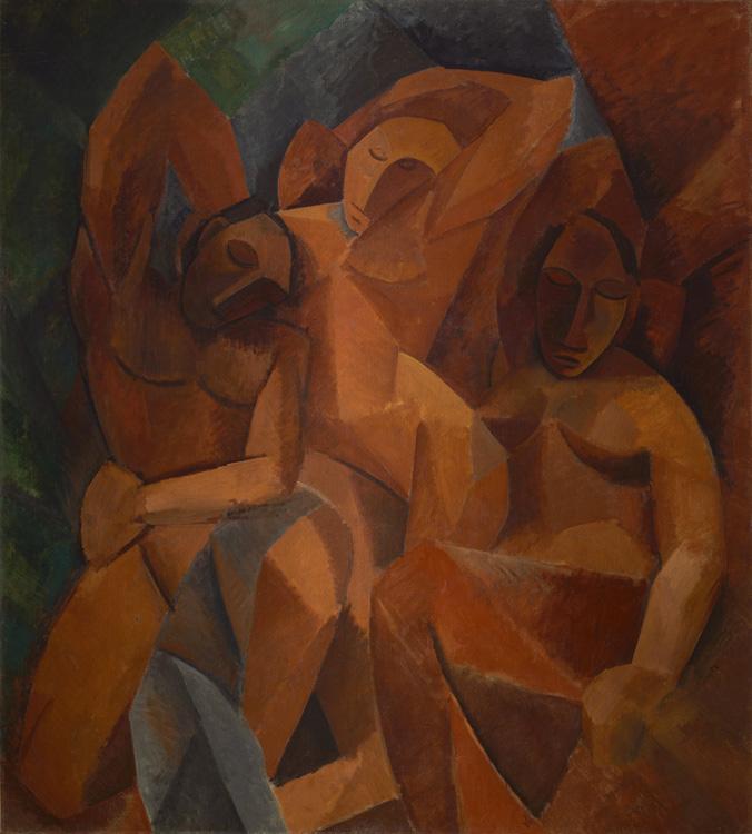 Pablo Picasso - 185 Trois femmes - Три женщины - Hiver 1908 - 200x178 – Acheté chez Kahnweiler, début 1914 - cat.1913, 254 ajout - inv. Ermitage 9658