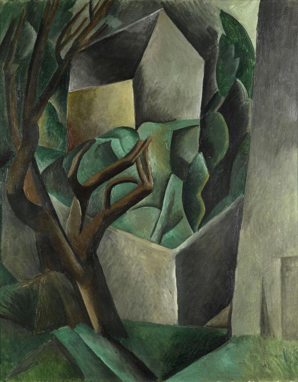 Pablo Picasso - 193 Maisonnette dans un jardin  - Домик в саду - Automne 1908 - 92x73 - Acheté chez Kahnweiler 1911/1912 - cat.1913, 230 - inv. Pouchkine J 3350