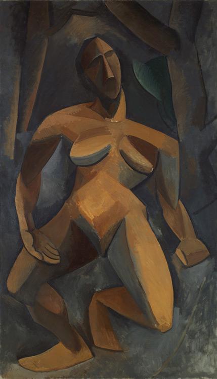 Pablo Picasso - Dryade (Nu dans la forêt)  - Дриада - Hiver 1908 - 185x108 - Acheté chez Kahnweiler, 1911/13? - cat.1913, 173 - inv. Ermitage 7704