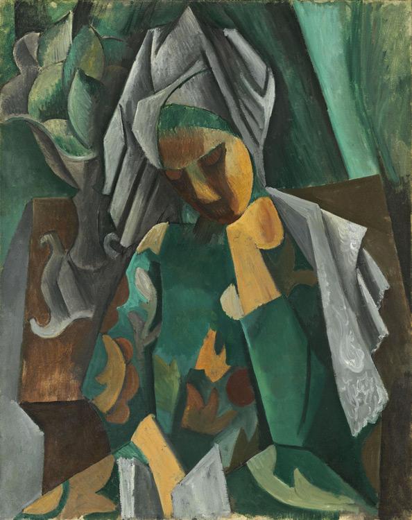 Pablo Picasso - 196 La reine Isabeau - Королева Изабо - Printemps 1909 - 92x73 - Acheté chez Kahnweiler, 1910/12? - cat.1913, 165 - inv. Pouchkine J 3319