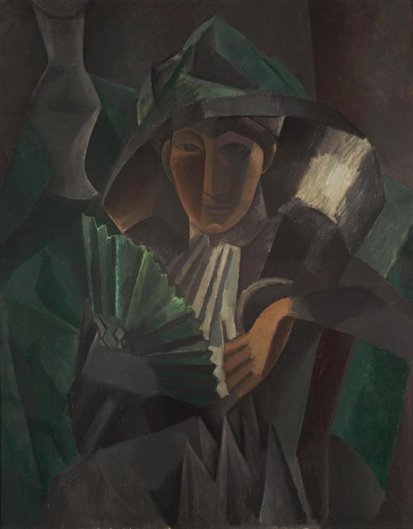 Pablo Picasso - 197 Dame à l'éventail - Дама с веером - Printemps 1909 - 101x81 – Acheté chez Sagot, août- sept 1909 SC - cat.1913, 176 - inv. Pouchkine J 3320
