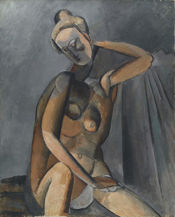 Pablo Picasso - 198 Nu assis - Нагая женщина - Hiver 1908 - 101x81 - Acheté chez Kahnweiler, 1913? - cat.1913, 229 - inv. Ermitage 7701