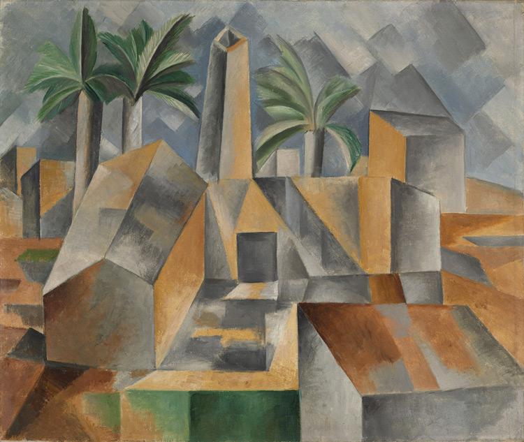 Pablo Picasso - 201 L'usine à Horta de Ebro - Фабрика Хорта де Эбро - Eté1909 - 50,7x60,2 - 1909 Collection Haviland – Acheté à Brummer 16 juillet 1912 - cat.1913, 151 - inv. Ermitage 9047