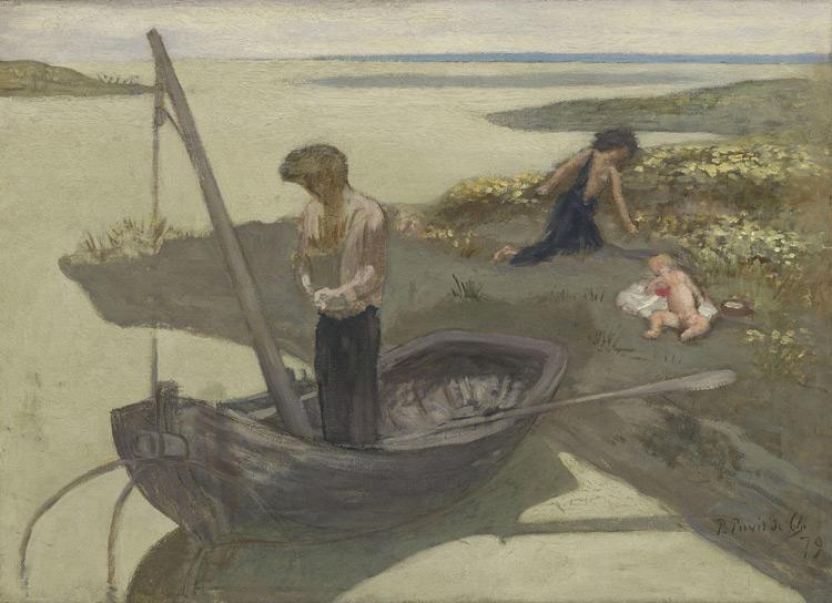 Pierre Puvis de Chavannes - 214 Esquisse du Pauvre pêcheur - Бедный рыбак - 1879 - 65,5x91,3 - Acheté chez Durand-Ruel, 16 novembre 1900, 14 000f - cat.1913, 185 - inv. Pouchkine J 3324