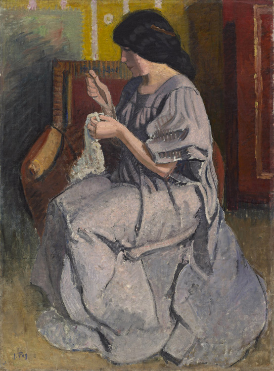 Jean Puy - 216 Portrait de la femme du peintre - Портрет жены художника 1905 - 131,5x97 - Provenance, Vollard,1906 - cat.1913, 187 - inv. Ermitage 7450