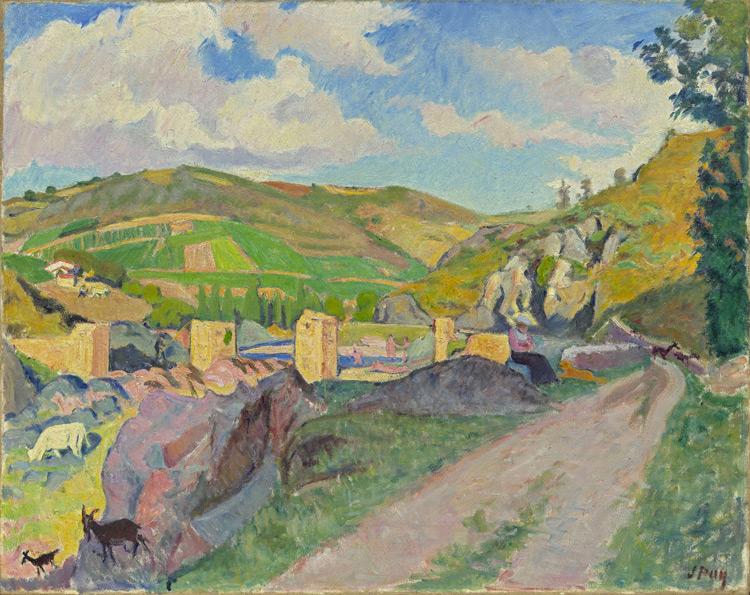 Jean Puy - 217 Pont romain à Saint Maurice sur Loire - Руины римского моста в Сент-Морис - Août1909 - 73,4x92 - Acheté chez Vollard, 1909/10 - cat.1913, 188 - inv. Pouchkine J 3326