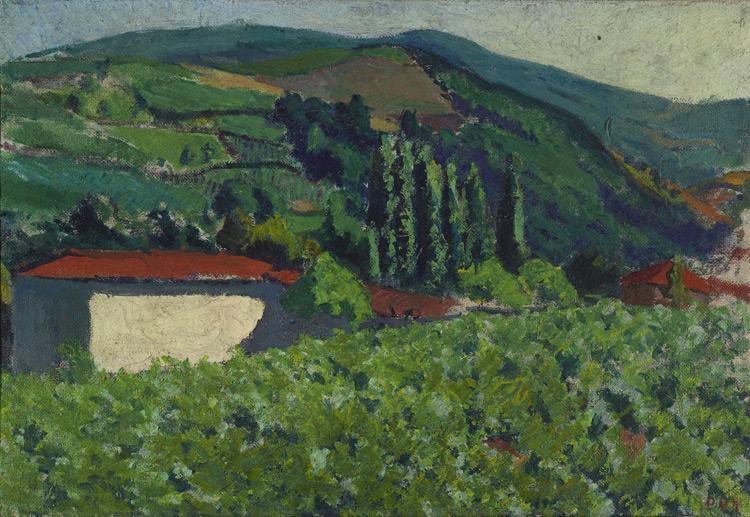 Jean Puy - 218 Paysage - Пейзаж в Сент-Альбане - 1903 - 48,5x73,5 - Acheté chez Vollard, vers 1906 - cat.1913, 189 - inv. Ermitage 8971