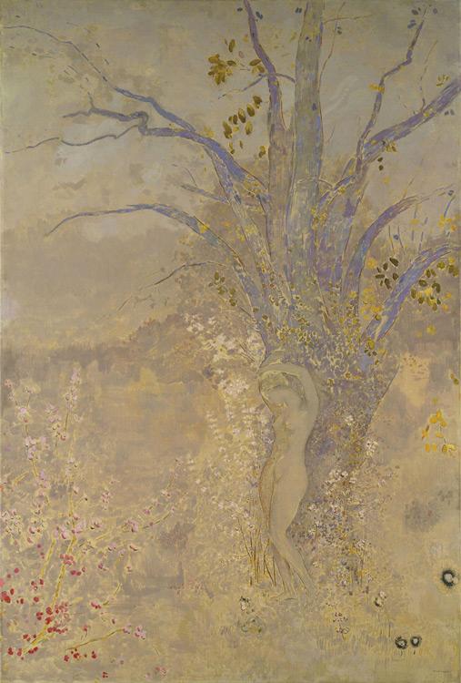 Odilon Redon - 220 Le printemps - Весна - Huile et détrempe - 1908 - 178x120 - Acheté chez Druet, 1910  ? - cat.1913, 192 - inv. Pouchkine J 3328