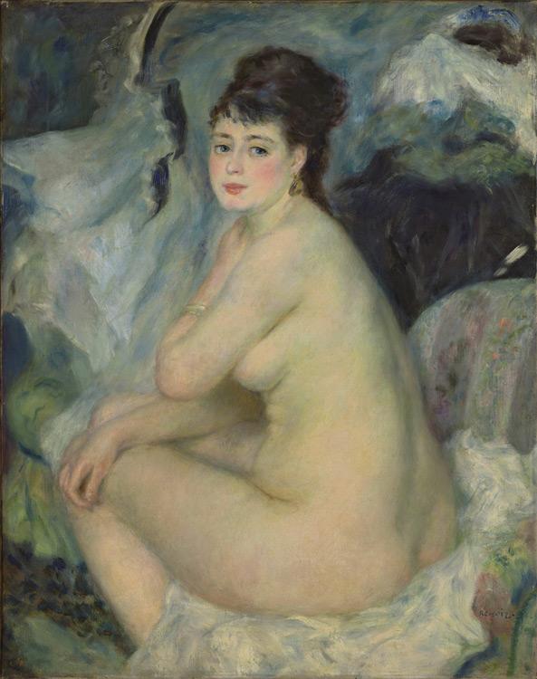 Pierre Auguste Renoir - 222 Nu - Обнаженная - 1876 - 92x73 - Acheté par Piotr à Durand-Ruel le 10 octobre 1898, 15 000f - Acheté par Sergueï à Piotr en 1912 - cat.1913, 194 - inv. Pouchkine J 3330
