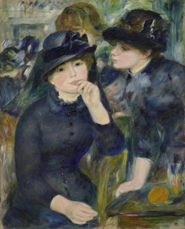 Pierre Auguste Renoir - 224 Jeunes filles en noir - Девушки в черном - 1880/82 - 81,3x65,2 - Acheté à Paris entre 1899/ 1903 - cat.1913, 193 - inv. Pouchkine J 3329