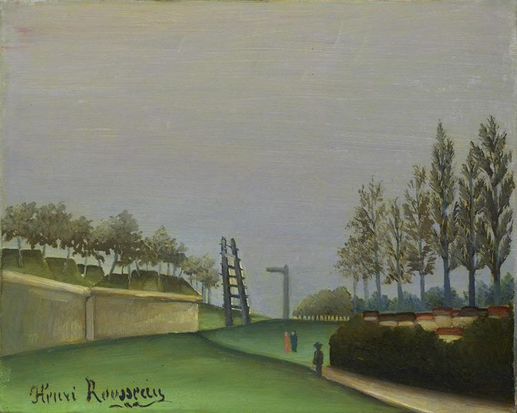 Henri Rousseau - 230 Vue des fortifications à gauche de Vanves - Вид местности влево от Ванвских ворот - 1909 - 31x41 - Acquis chez Vollard en  1912 - cat.1913, 197 - inv. Ermitage 6535