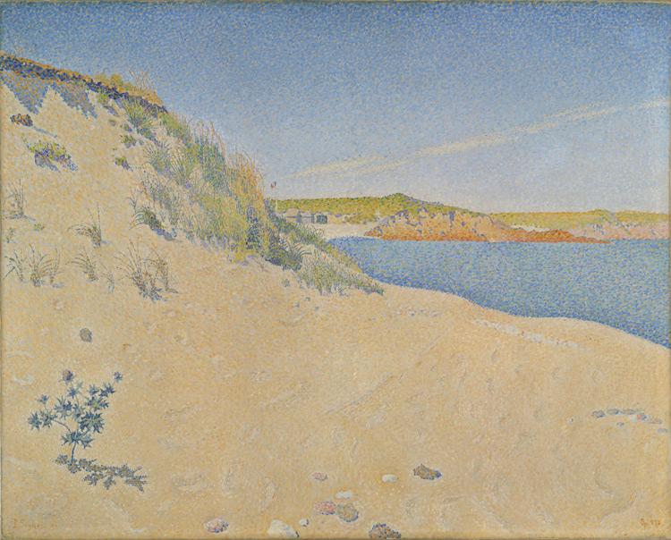 Paul Signac - 234 Bord sablonneux de la mer - Песчаный берег моря в Сен-Бриаке - 1890 - 65x81 – Acquisition ? 1910? - cat.1913, 213 - inv. Pouchkine J 3342