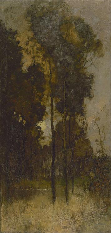 Robert Macaulay Stevenson - 238 Paysage de forêt - Лесной пейзаж - circa 1896 - 87,5x42 - Provenance BING? 1898/1999? - cat.1913, 215 - inv. Ermitage 8973