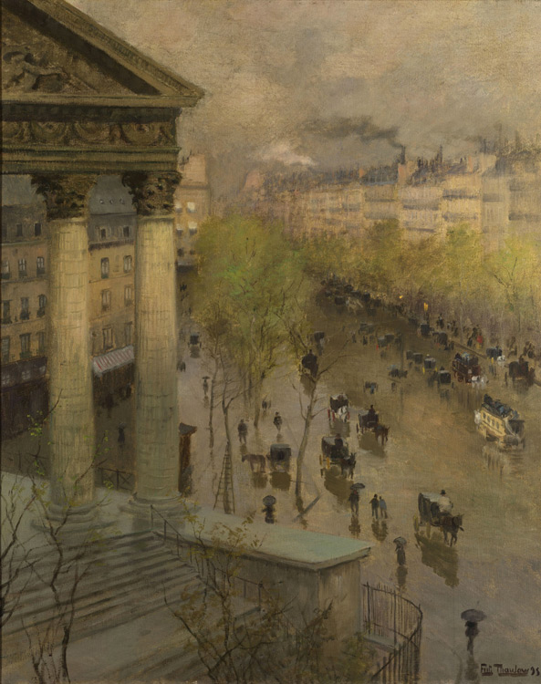 Fritz Thaulow - 239 Le boulevard de la Madeleine à Paris - Бульвар Мадлен в Париже - 1895 - 88,2x66,3 - Acquisition? BING 1898/1899 ? - cat.1913, 216 - inv. Pouchkine J 3343