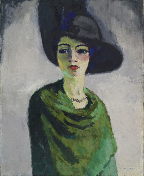 Kees Van Dongen - 245 La dame au chapeau noir - Женщина в чёрной шляпе - 1908  - 100x81,5 - Provenance? Kahnweiler 1910? - cat.1913, 56 - inv. Ermitage 6572