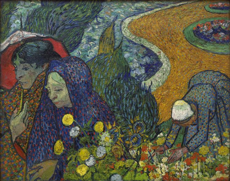 Vincent Van Gogh - 247 Les femmes d'Arles - Воспоминание о саде в Эттене (Арльские дамы) - 1888 - 73x92 - Provenance? Druet 1908? - cat.1913, 35 - inv. Ermitage 9116