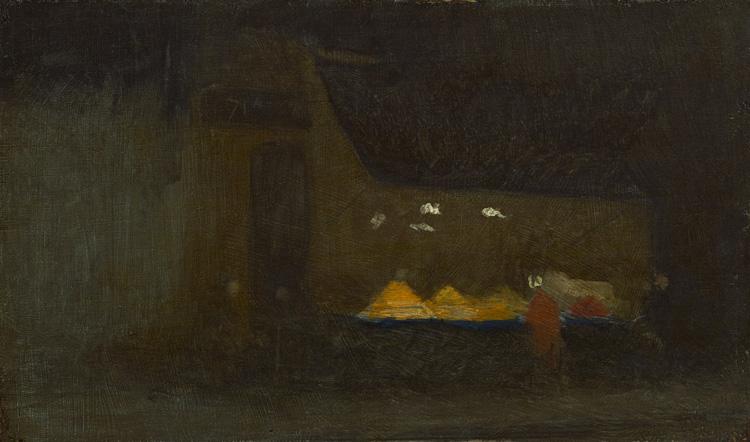 James Abbot Mac Neil Whistler - 256 La marchande d'oranges - Продавщица апельсинов - (huile/bois) 1890 - 13,8x23,2 - Provenance?, Bernheim 1903? - cat. 1913, 11 - inv. Ermitage 8924