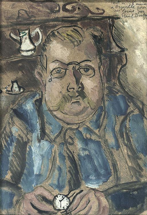 Raoul Dufy - 260Portrait de Paysan - Портрет крестьянинa - 1926 - 36x25 - Acquis  par Sergei Chtchoukine après son installation à Paris - Confié au musée Pouchkine en 2007, par le petit-fils du collectionneur