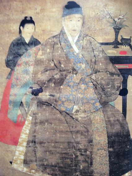 Zhou Fang (Zhonglang Jingyuan) Artiste Chinois, 730-800 - Yang Yuhaun souvent appelé Yang Guifei, Après le bain - Encre de Chine et aquarelle sur soie - 120 x 55 - Provenance: BING? avant 1910 ? - Ne figure pas au catalogue 1913 - Transféré en 1928 au Musée national d'art oriental, Moscou, Inventaire n° 2495-I