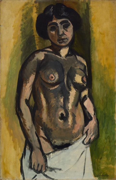 Henri Matisse - 117 Nu en noir et or - Обнаженная. Чёрное с золотом - 1908 - 100x65 - Acheté chez Bernheim-J le 1er mai 1908, 1000f. - cat. 1913, 93 - cat. Ermitage 9057